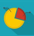 pie chart icon flat vector image