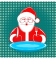 Santa Claus comic style design on dotted vector image