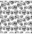 seamless skulls white vector image
