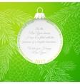 The Christmas ball vector image