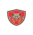 Wild Hog Head Crossed Polo Mallet Crest Retro vector image