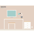 Workstation vector image