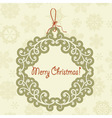 hanging frame with christmas greetings vector image