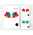 Minimalistic White cover Brochure design vector image