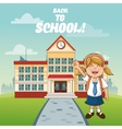 Girl cartoon of back to school design vector image