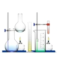 Realistic Chemical Laboratory Equipment Set Glass vector image