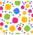 Seamless pattern with colorful squares and dots vector image