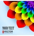 Background flower and beautiful petals vector image