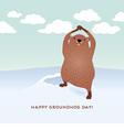 Happy Groundhog Day vector image
