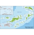 British Virgin Islands map vector image