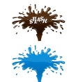 Chocolate and water splashes vector image