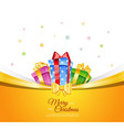 Colorful gift boxes with bows vector image