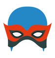 colorful silhouette with contender mask vector image