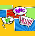 comic speech bubbles with text set colorful vector image