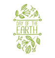 Day of the Earth Banner vector image
