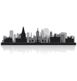 Hartford Connecticut city skyline silhouette vector image