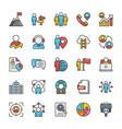 human resource icons set 4 vector image