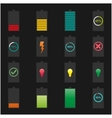 Icons batteries vector image