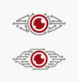 Technological eye vector image