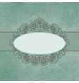 Vintage floral lace Card vector image