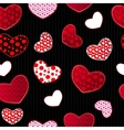 Red and Black Love Valentins Day Seamless Pattern vector image vector image
