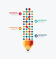 Modern Design pencil dot Minimal style infographic vector image