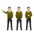Set of casual business man vector image