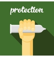 condom protection sex vector image