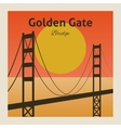 Golden gate bridge poster vector image
