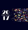 happy new year 2017 party celebration web header vector image