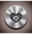 metal favorite icon button vector image
