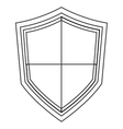 pointy shield icon vector image