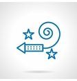 Simple blue line firecracker icon vector image