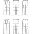 Work pants set vector image