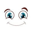 happy smirk emoticon icon vector image