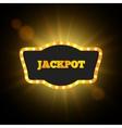 Jackpot Retro Banner Gambling Design vector image