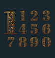 numbers with elegant floral vector image