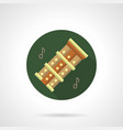 bamboo flutes flat round icon vector image