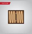 isolated backgammon flat icon dice element vector image
