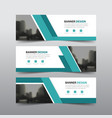 green abstract corporate business banner template vector image