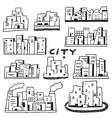 city doodles vector image vector image