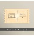 Simple stylish laptop pixel icon design vector image