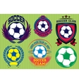 Set of Soccer Football Badge Logo Design Templates vector image