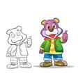 mascot cute bear cartoon vector image