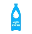 aqua fresh icon with bottle and water drop vector image