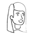 blurred silhouette of woman face with long vector image