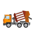 Building under construction cement mixer machine vector image