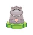 Funny Cartoon Hippo vector image