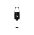 Glass of champagne icon vector image