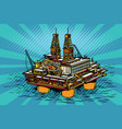 oil and gas producing offshore platform vector image